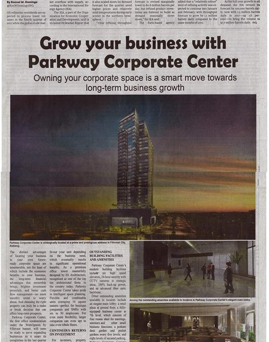 PARKWAY CORPORATE IS IN THE NEWS!