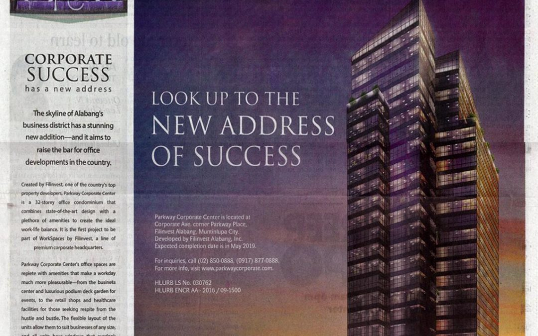 Parkway Corporate Center is in Philippine Daily Inquirer!